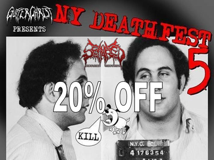 NEW YORK DEATHFEST 20% OFF SALE STARTS NOW!!!