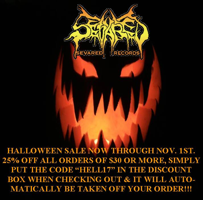 HALLOWEEN SALE ON NOW, 25% OFF ALL ORDERS OF $30 OR MORE!!